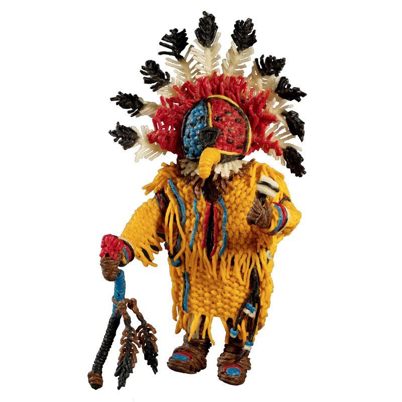 Cool Kachina Doll made with Super Wikki Stix