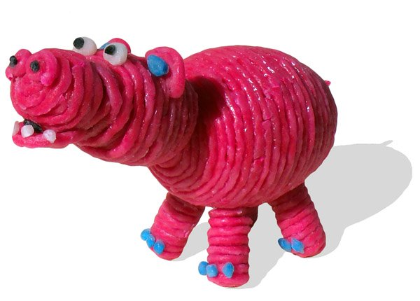 Pink Hippo Craft with Wikki Stix