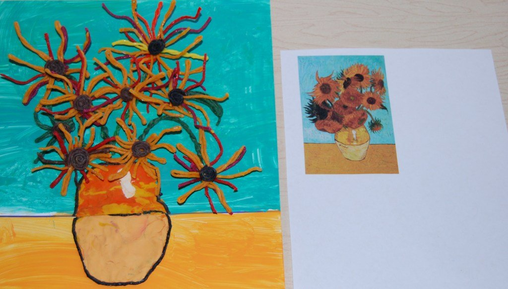 Sunflower Mixed Media Craft with Wikki Stix
