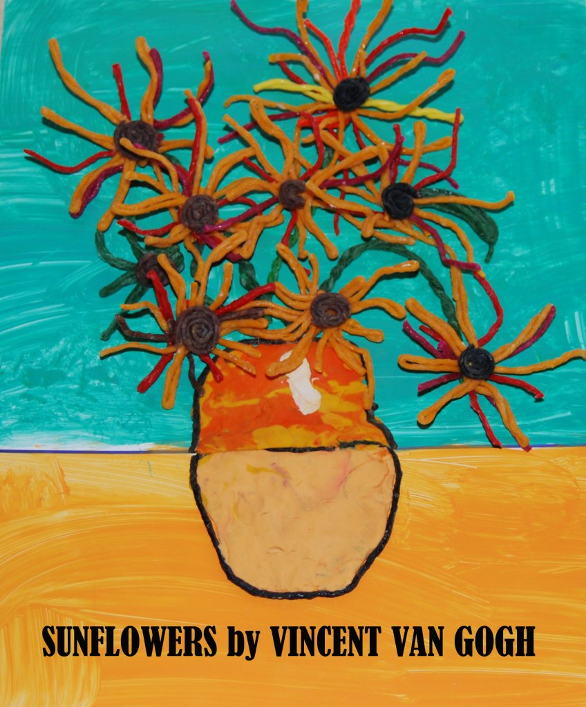 Wikki Stix Mixed Media Art for Kids:  Van Gogh's Sunflowers