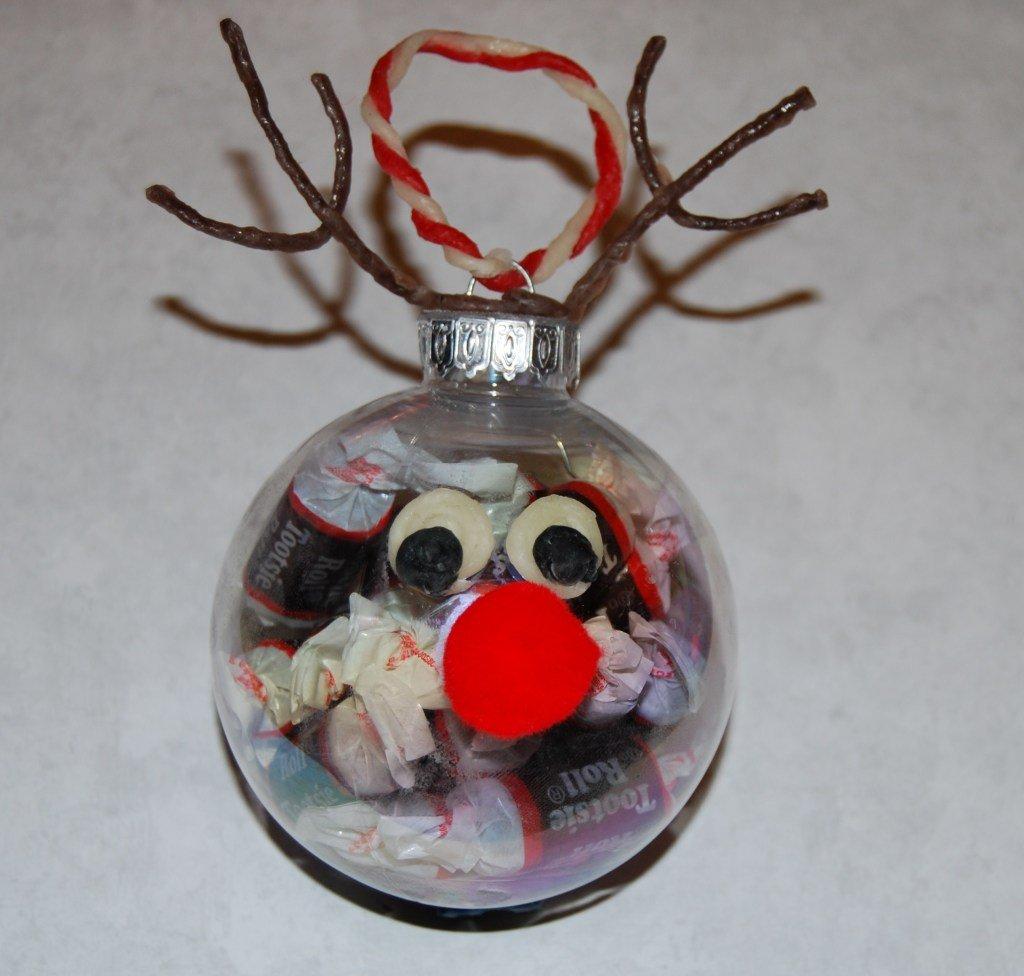 Wikki Stix Reindeer Candy Ornament