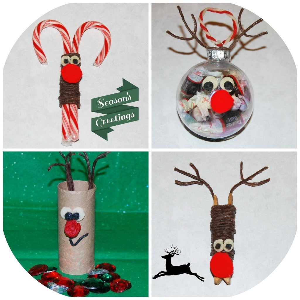 Wikki Stix Reindeer Ornament Crafts for Kids!