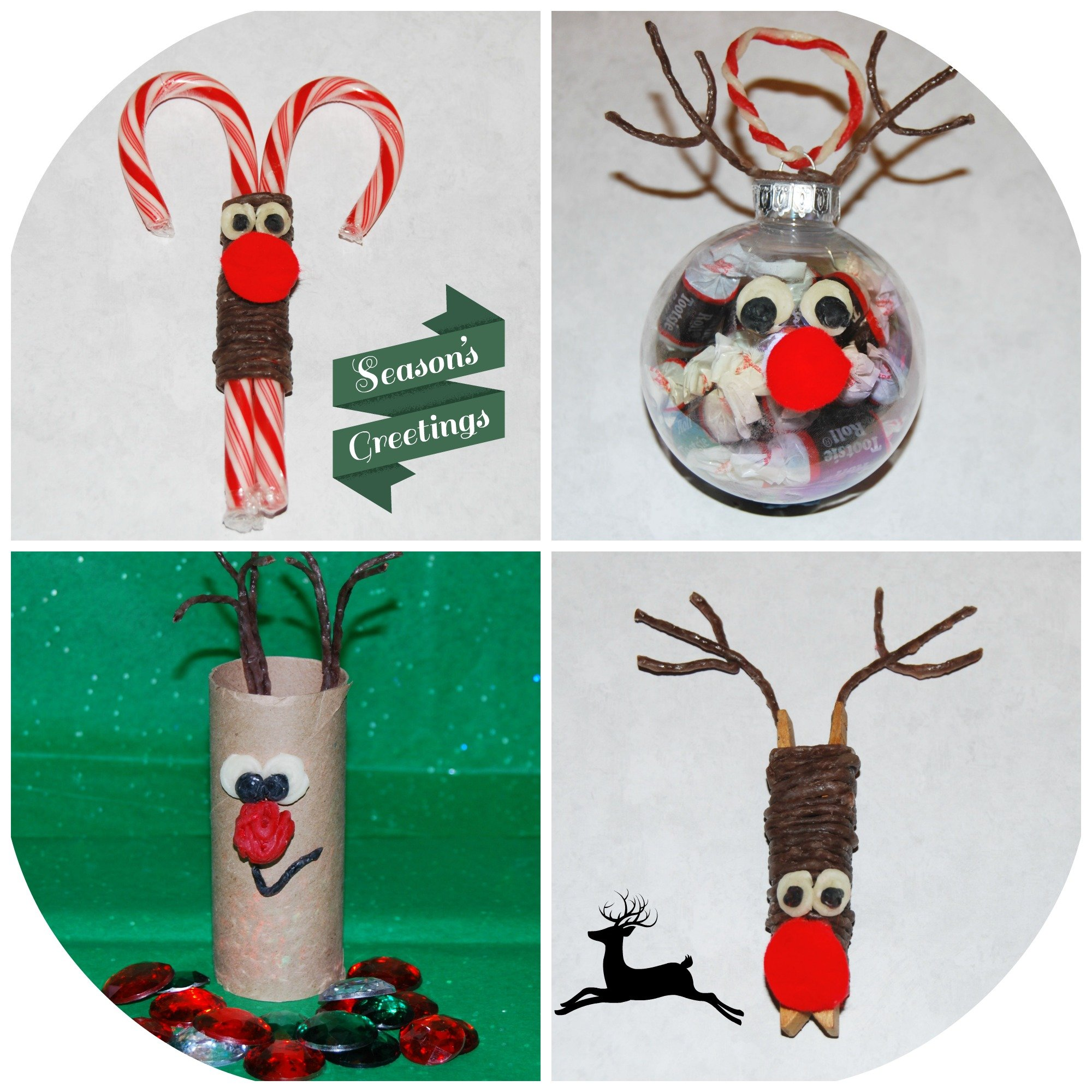 Wikki stix reindeer ornament crafts for kids wikki stix for Reindeer project