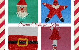 Cardboard Tube Santa Craft