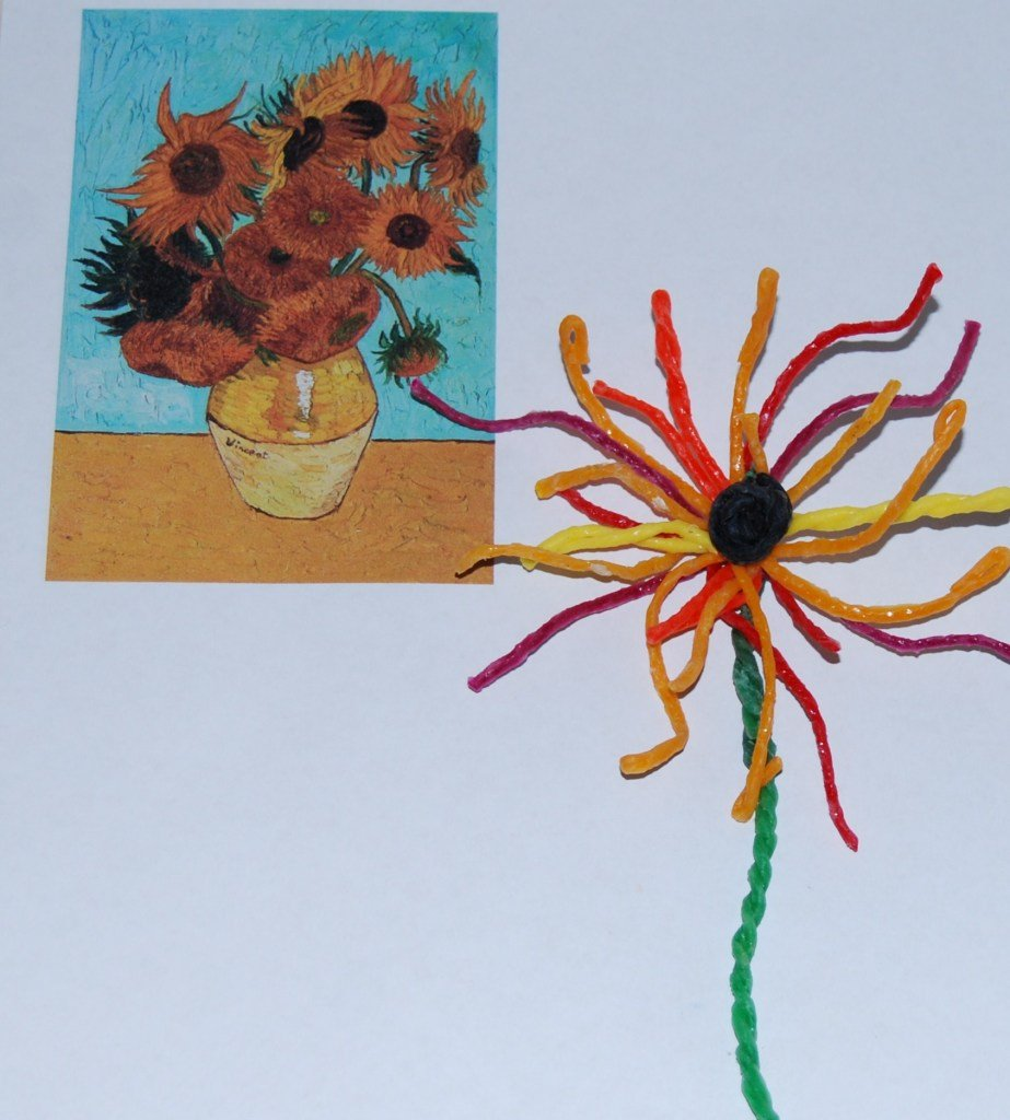 Wikki Stix Sunflowers