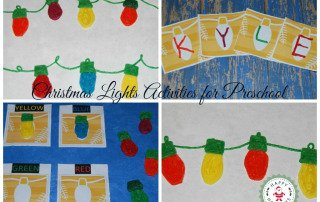 Wikki Stix Christmas Lights Learning Activities for Young Kids!