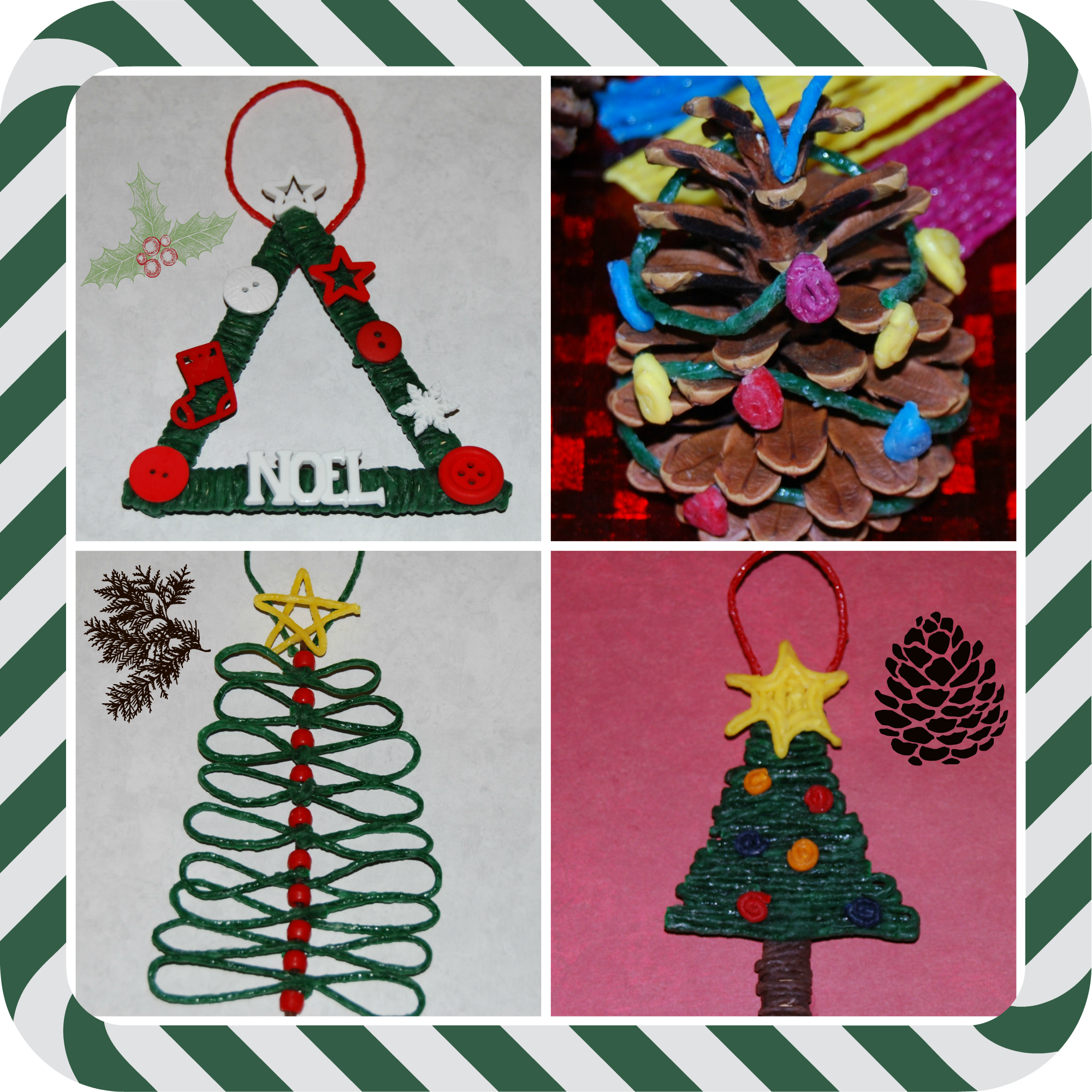 wikki stix christmas tree crafts for kids wikki stix - Christmas Decoration Craft Ideas
