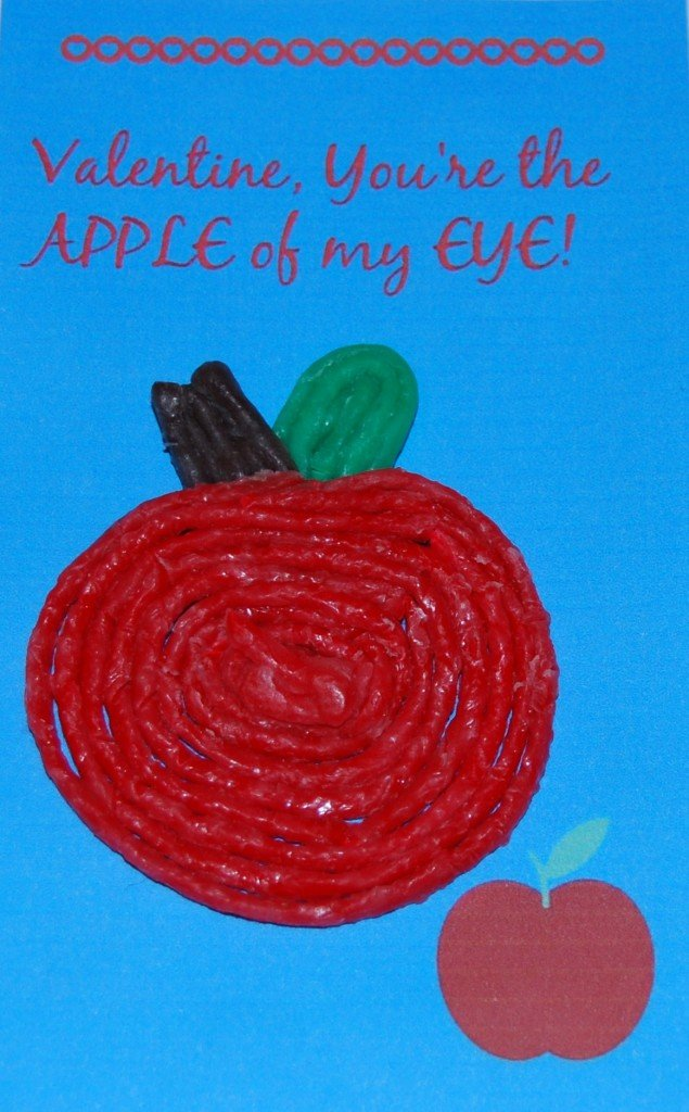 Apple Valentine Craft for Kids