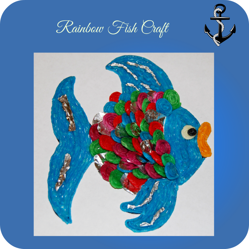 Wikki Stix Rainbow Fish Craft