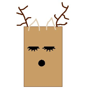 Deer Lunch Bag Craft