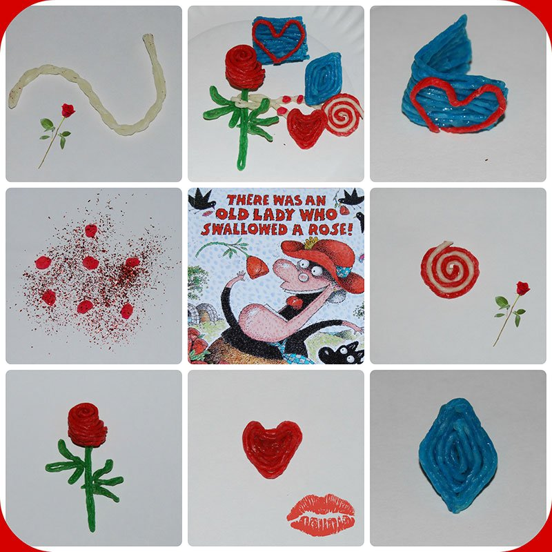Wikki Stix Activities: There Was An Old Lady Who Swallowed a Rose