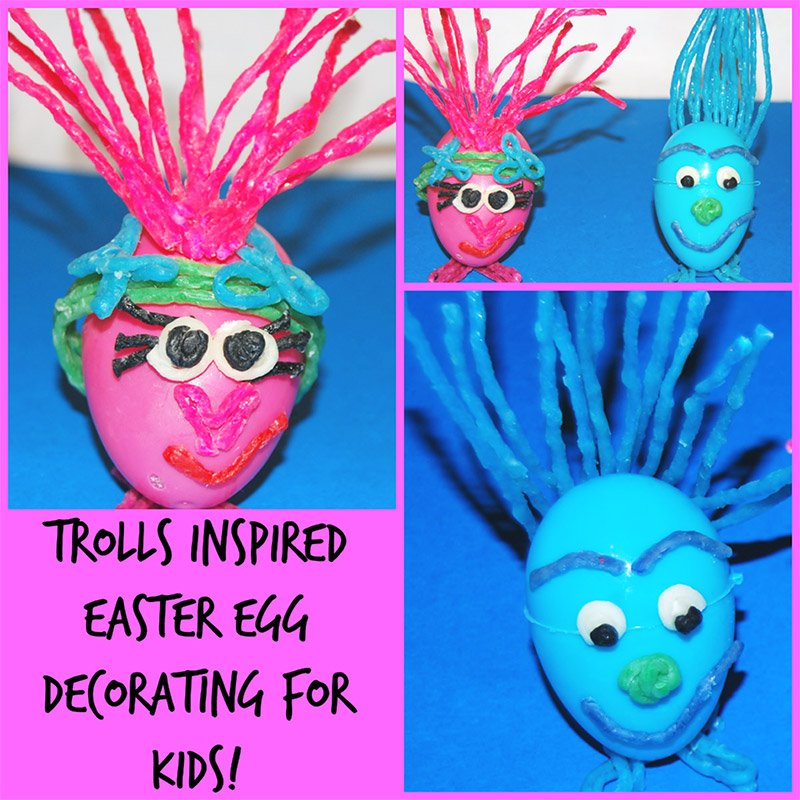 Trolls Inspired Easter Egg Crafts