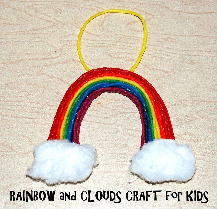 Wikki Stix Rainbow and Clouds
