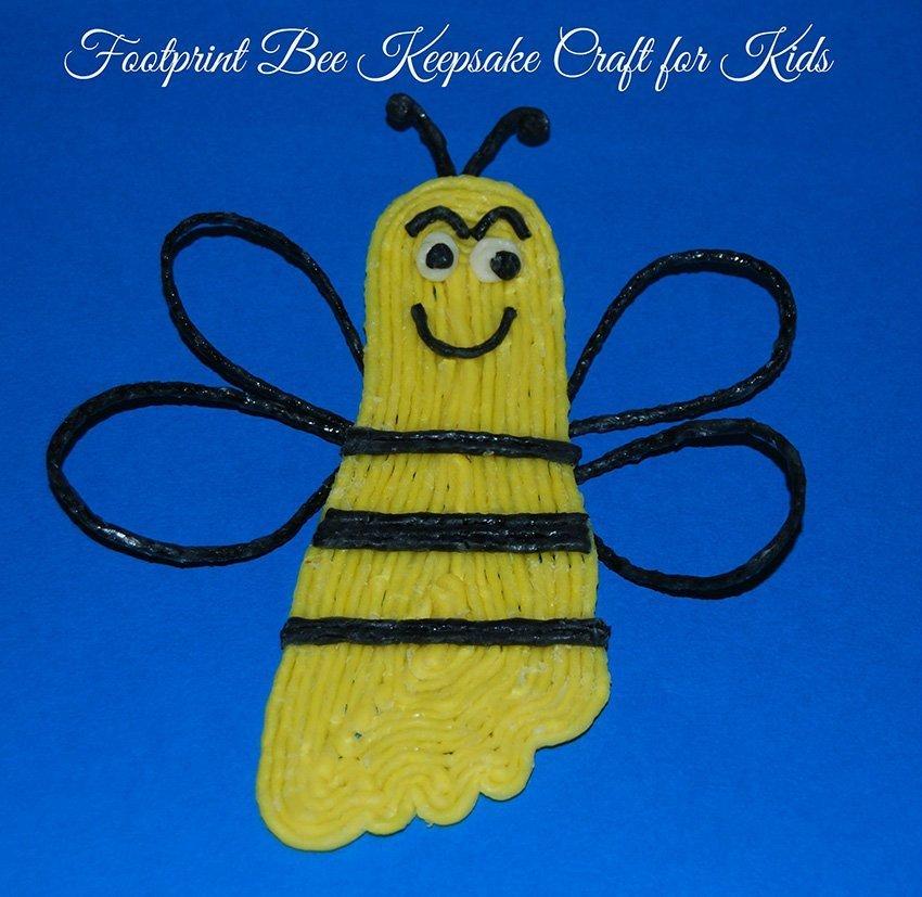 Wikki Stix Bee Keepsake Craft