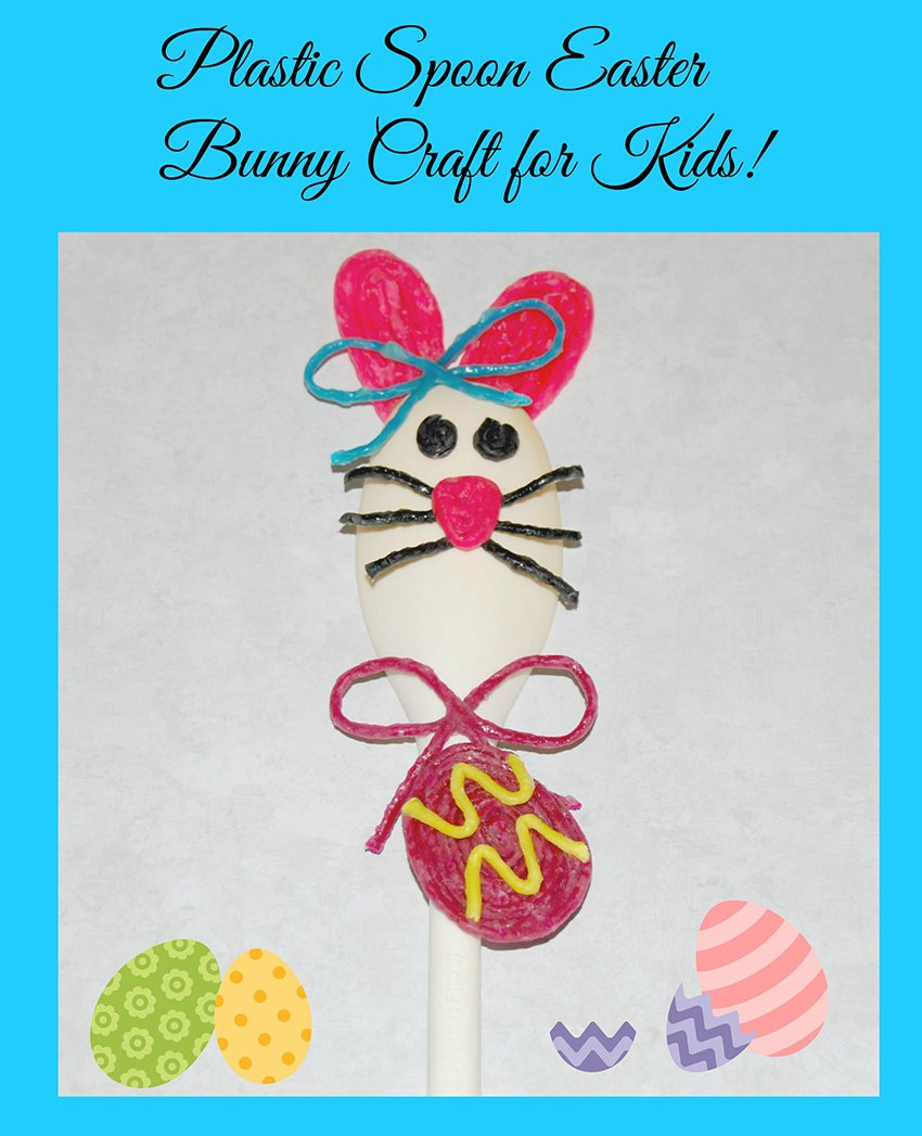 Wikki Stix Spoon Bunny Craft