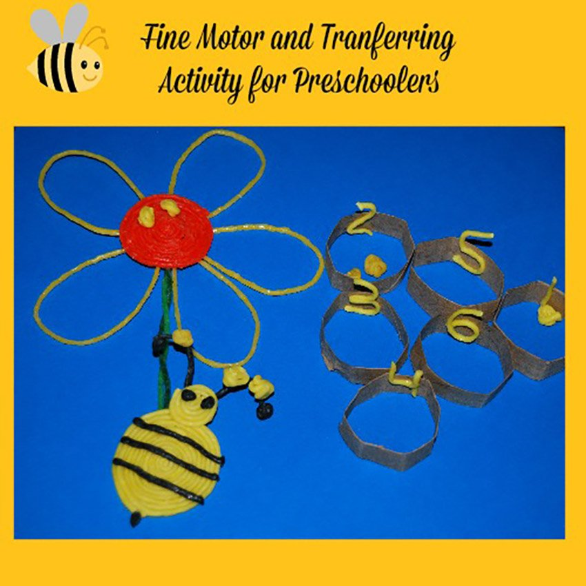Bee Fine Motor and Transfer Activity