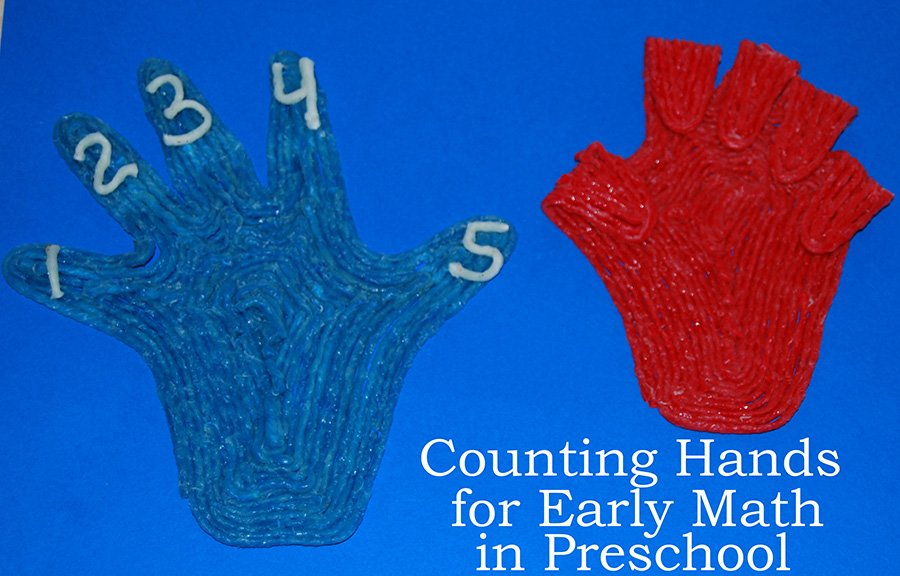 Counting Hands Craft for Early Math in Preschool