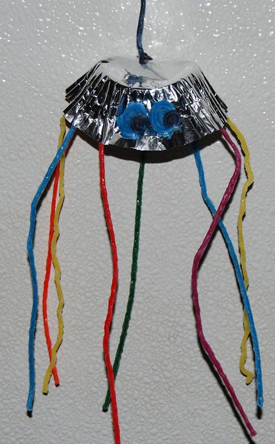 Wikki Stix Jellyfish Cupcake Liner Craft