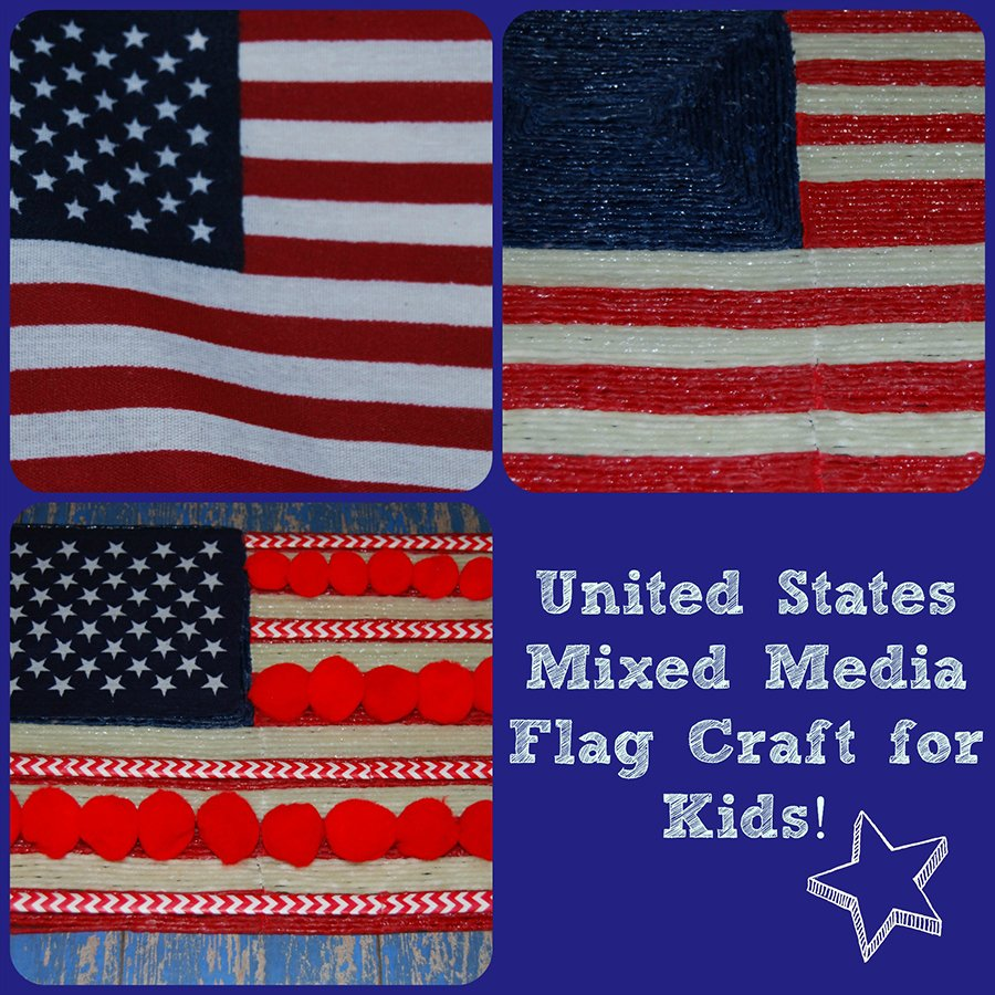 The United States Flag Mixed Media Craft for Kids!