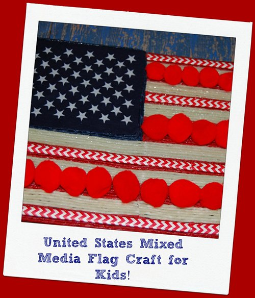 Wikki Stix Mixed Media Flag Craft