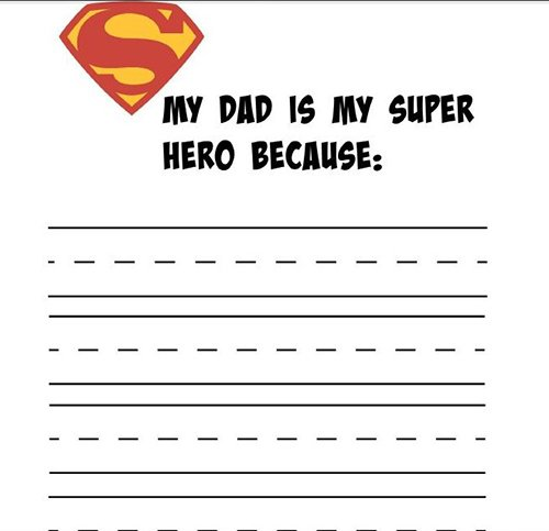 WS Super Hero Printable for Fathers Day