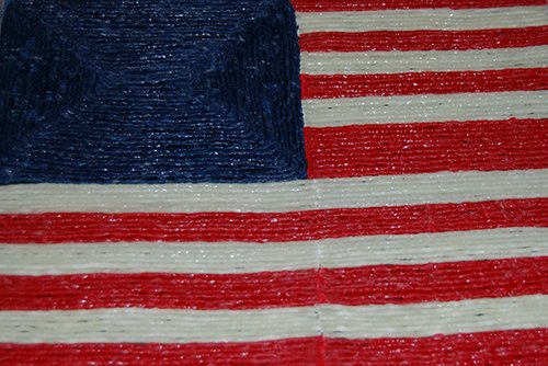 Wikki Stix U.S. Flag Craft