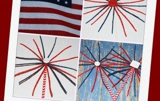 EASY Patriotic Sparkler Craft for Kids!