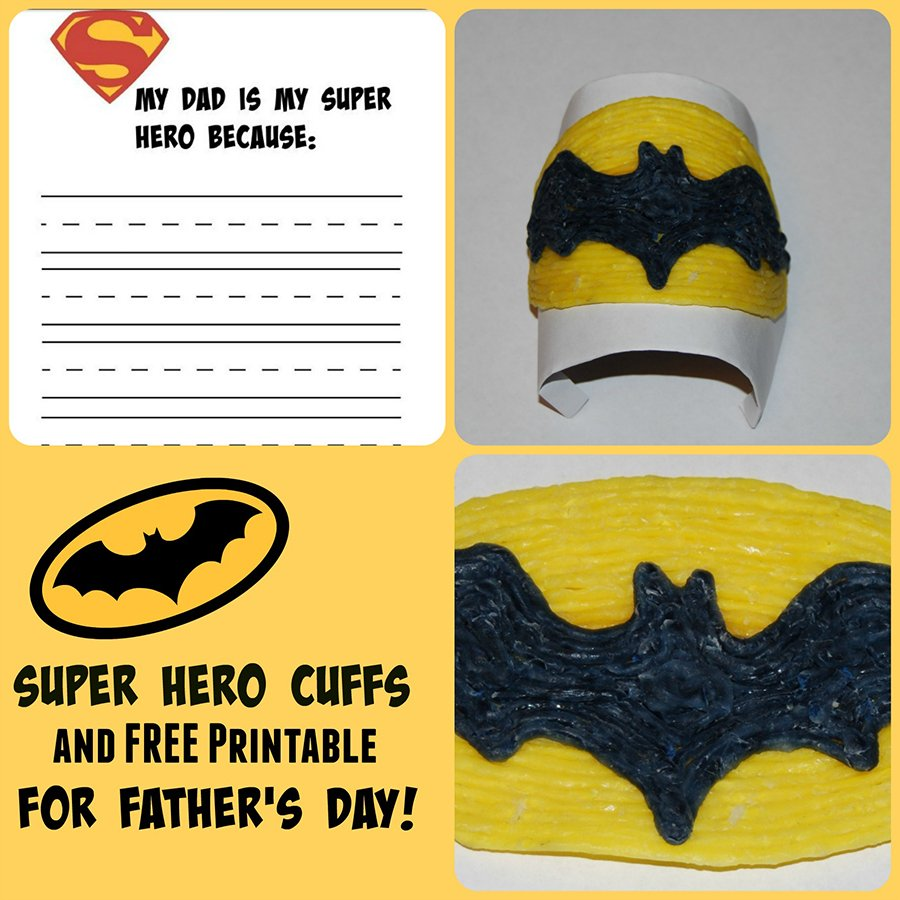 Father's Day Superhero Cuff Craft for Kids!