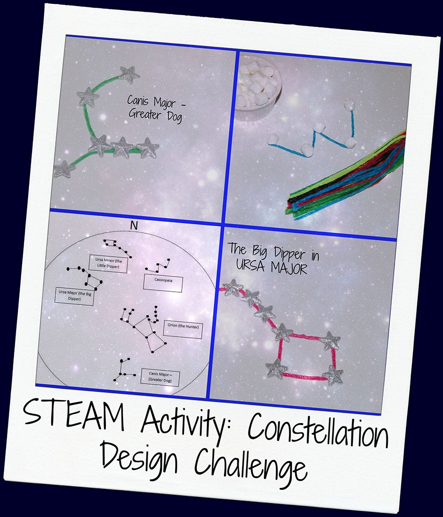 STEAM Activity for Kids:  Wikki Stix Constellation Designs