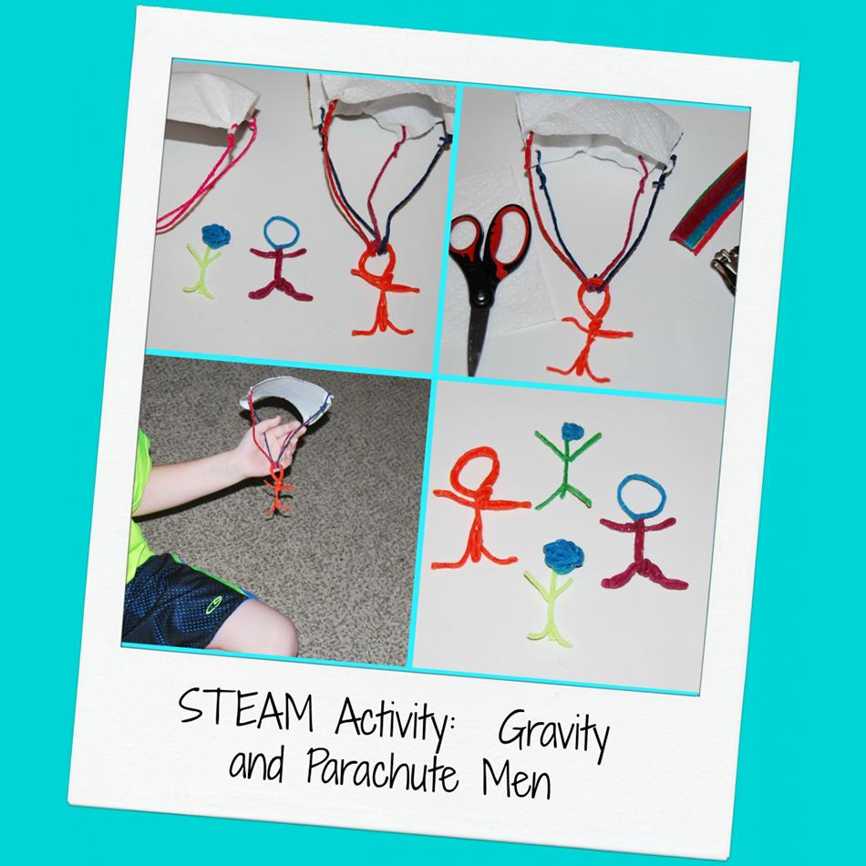 STEAM for Kids: Wikki Stix Parachute Men Design Challenge