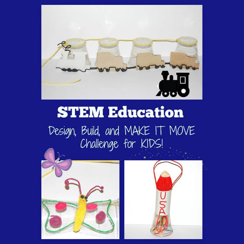 STEM Education for Kids: a MAKE IT MOVE Challenge!