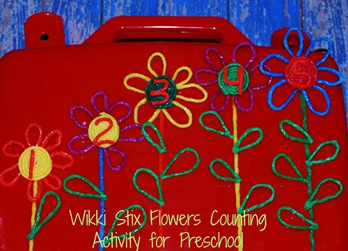 Wikki Stix Counting Flowers