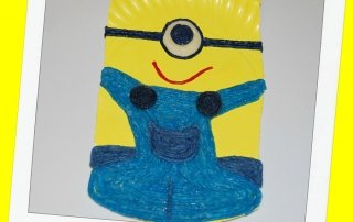 MINIONSWikki Stix Paper Plate Craft for Kids