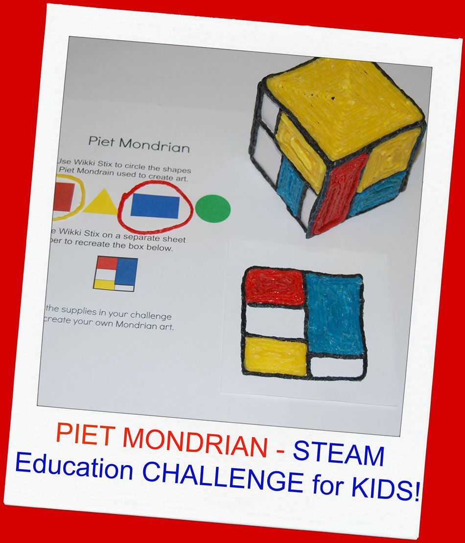 Introduction to Mondrian Art for Kids – a design and construction challenge