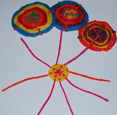 Kadinsky Concentric Woven Circles with Wikki Stix