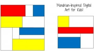 Mondrian Digital Art for Kids