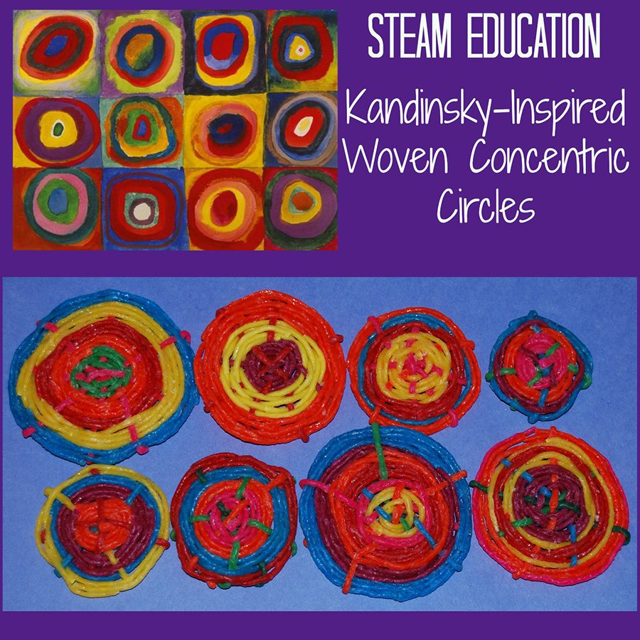 STEAM Activity for Kids:  Kandinsky's Concentric Circles