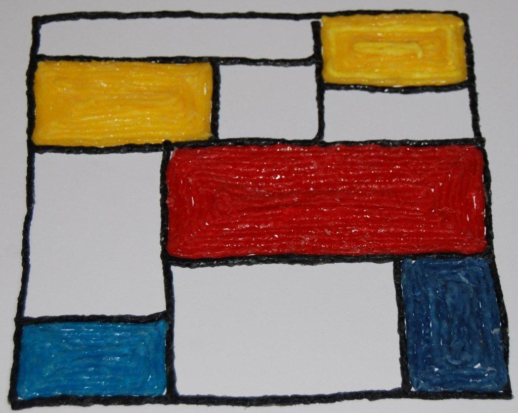 Wikki Stix Mondrian Challenge