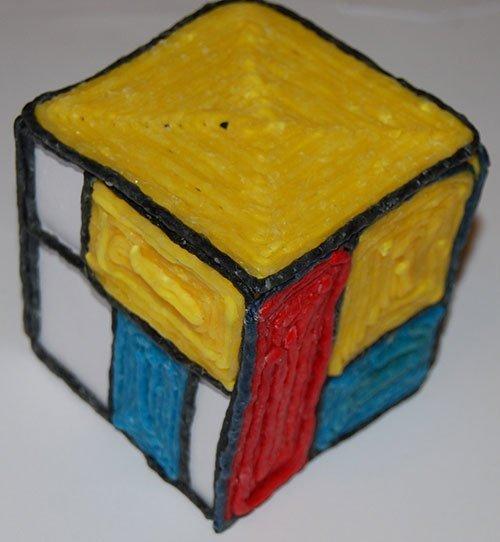 Wikki Stix Mondrian Cube Design Challenge