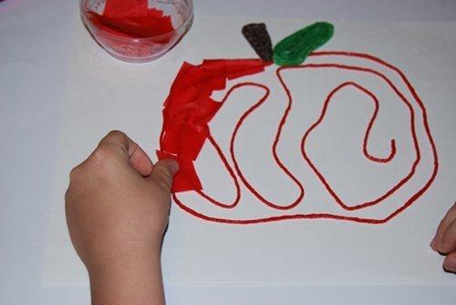Apple Fine Motor Crafts for Kids
