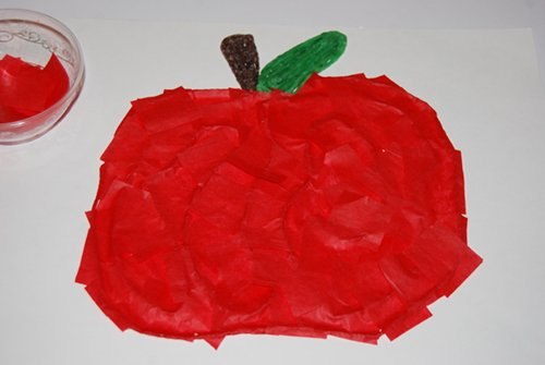 Fall Apple Fine Motor Craft for Kids