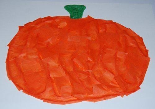 Fall Pumpkin Fine Motor Craft for Kids