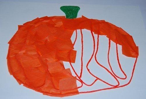 Pumpkin Fine Motor Craft for Kids