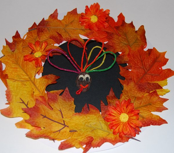 Fall Paper Plate Wreath Craft for Kids