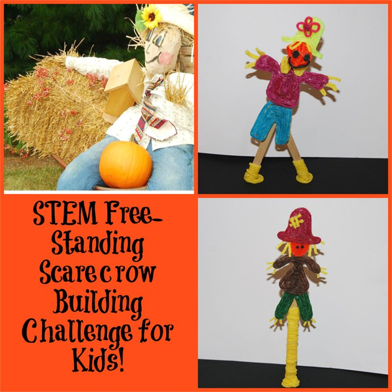 STEM Education ? Free-Standing Scarecrow Building Challenge for Kids!
