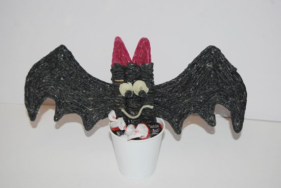 Bat and Treat Holder Craft for Kids