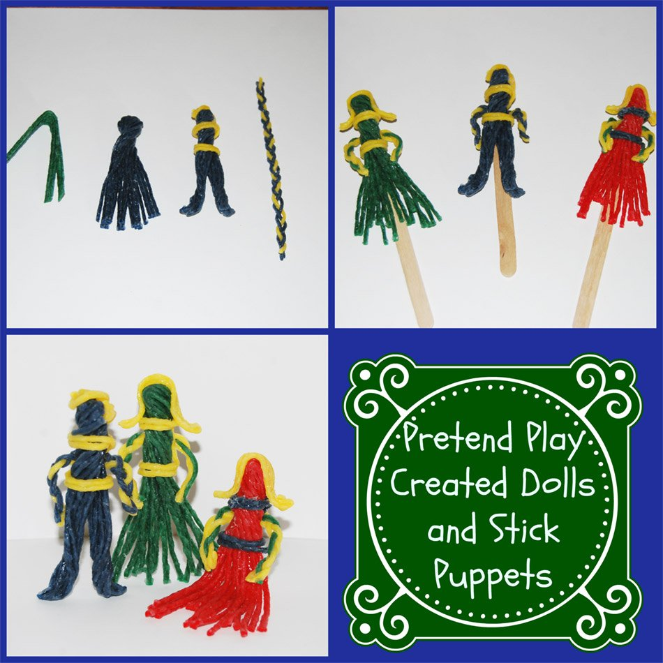 Pretend Play Created Dolls and Stick Puppets
