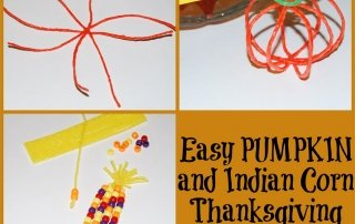 EASY Pumpkin and Indian Corn Thanksgiving Crafts for Kids