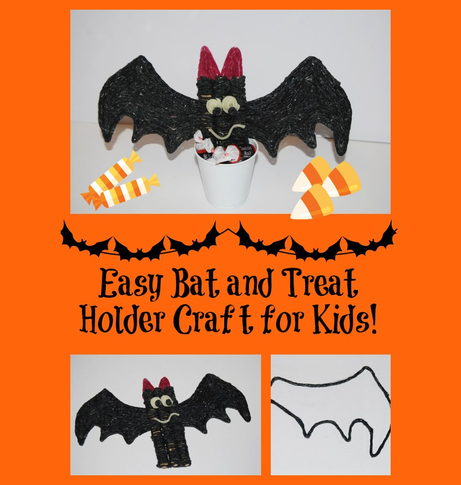 Simple Bat and Treat Holder Halloween Craft for Kids!