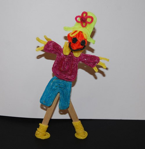 "The ""moving scarecrow"" was designed by a 5th grade team"